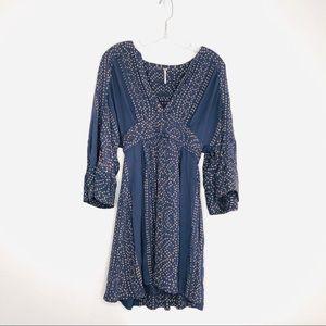 Free People Blue Kimono Sleeve Mini Dress Tunic 4